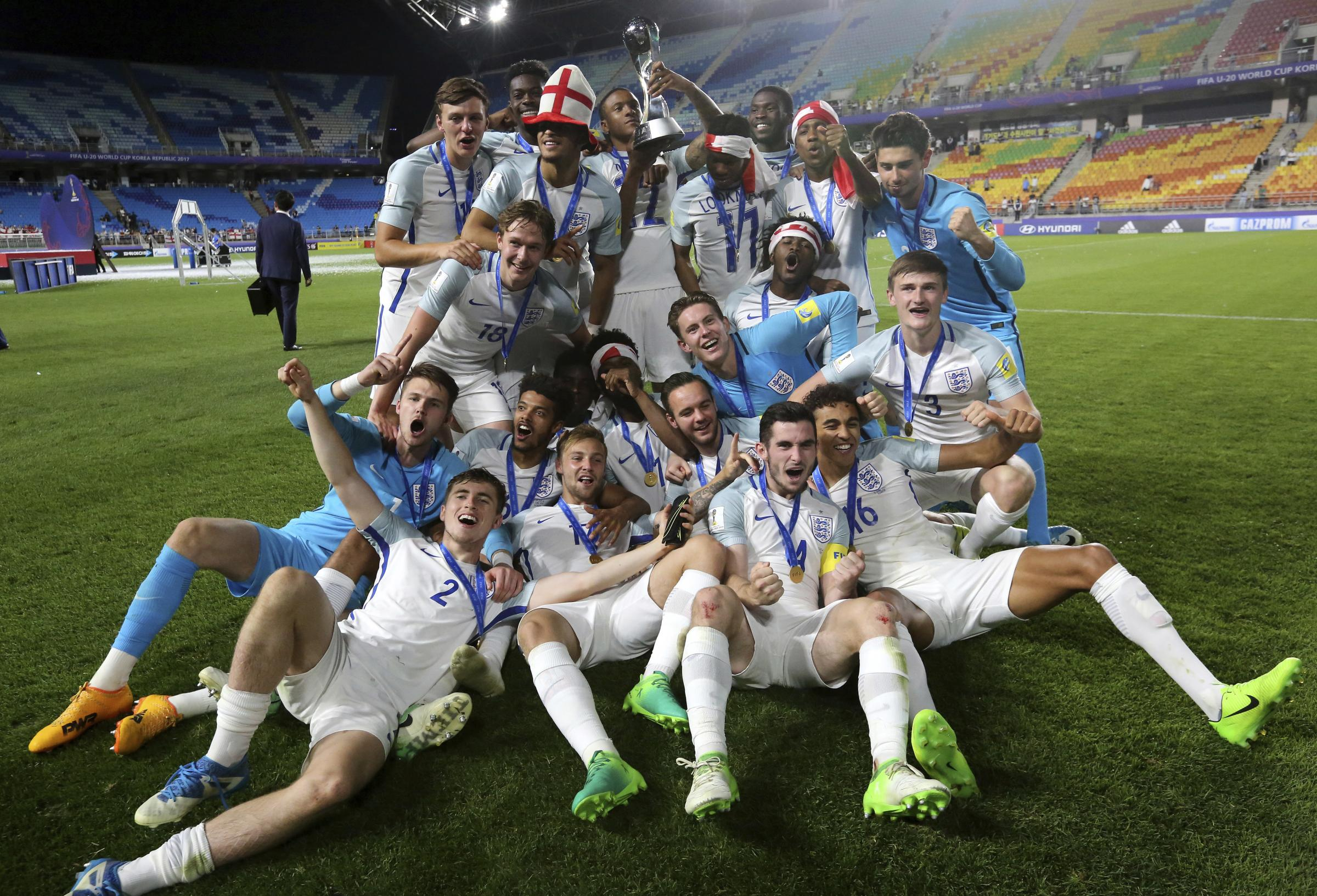 England beats Venezuela 1-0 to win U20 World Cup